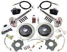 Mustang SVE 5-Lug Rear Disc Only Conversion Kit, 28 Spline Black (87-92)