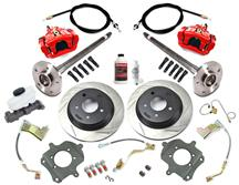 Mustang SVE 5 Lug Rear Disc Only Conversion Kit, 28 Spline Red (87-92)