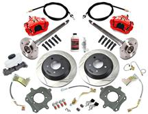 Mustang SVE 5-Lug Rear Disc Conversion Kit, 28 Spline Red (1993)