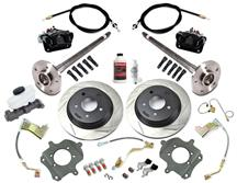 Mustang SVE 5-Lug Rear Disc Conversion Kit, 31 Spline Black (87-92)