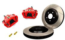Mustang SVE Cobra Rear Brake Caliper & Rotor Kit Red (94-04)