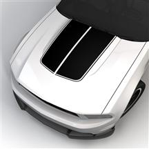 Mustang SVE Bulge Hood Stripe Kit Black (10-12)