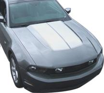 2010-12 Mustang Silver Bulge Hood Stripe Kit.  Will look like GE-K368S10-SL but our own decal. Not graphics express