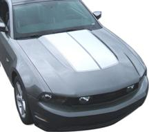 2010-12 Mustang White Bulge Hood Stripe Kit.  Will look like GE-K368S10-WH but our own decal. Not graphics express
