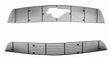 Mustang SVE Upper & Lower Billet Grille W/ Pony Opening Black (10-12)