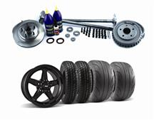 Mustang SVE 5 Lug Conversion w/ Black Drag Wheel & Tire Kit 28 Spline (87-93)