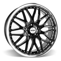 Mustang SVE Series 3 Wheel - 20x8.5 Black w/ Mirror Lip (05-15)
