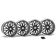 Mustang SVE Series 3 Wheel & Lug Nut Kit - 20x8.5 Black w/ Mirror Lip (05-14)