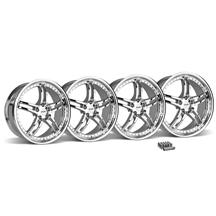 Mustang SVE Series 2 Wheel & Lug Nut Kit - 20x8.5 Chrome (05-14)