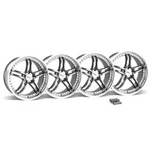 Mustang SVE Series 2 Wheel & Lug Nut Kit - 20x8.5 Gunmetal w/ Mirror Lip (05-14)