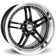 Mustang SVE Series 2 Wheel - 18x10 Black w/ Polished Lip (94-04)