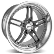 Mustang SVE Series 2 Wheel - 18x10 Gun Metal w/ Polished Lip (94-04)