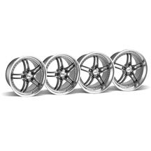 Mustang SVE Series 2 Wheel Kit -18x9/10 Gunmetal w/ Polished Lip (94-04)