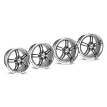 Mustang SVE Series 2 Wheel Kit -18x9/10 Gun Metal w/ Polished Lip (94-04)