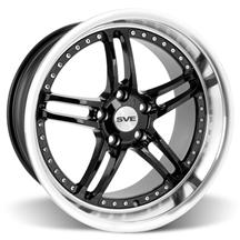 "Mustang SVE Series 2 Wheel - 19x10"" Black w/ Polished Lip (05-15)"