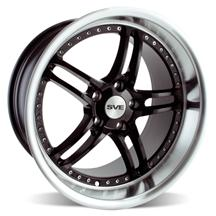 "Mustang SVE Series 2 Wheel - 19x10"" Black w/ Polished Lip (05-14)"