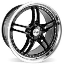 "Mustang SVE Series 2 Wheel - 19x9"" Black w/ Polished Lip (05-15)"