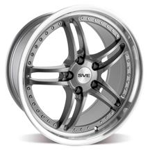 "Mustang SVE Series 2 Wheel - 19x9"" Gun Metal w/ Polished Lip (05-15)"