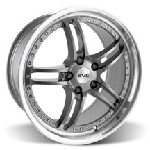 "Mustang SVE Series 2 Wheel - 19x9"" Gunmetal w/ Polished Lip (05-15)"