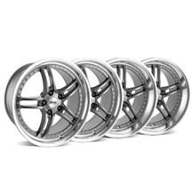 Mustang SVE Series 2 Wheel Kit - 19x9/10 Gun Metal w/ Polished Lip (05-15)