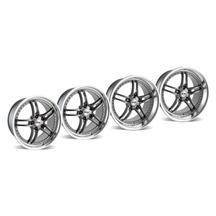 Mustang SVE Series 2 Wheel Kit -19x9/10 Gun Metal w/ Polished Lip (05-14)