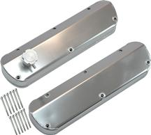 Mustang SVE Fabricated Aluminum Valve Covers Brushed (86-93) 5.0L