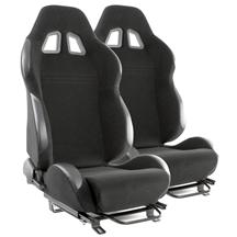 Mustang SVE S2 Racing Seats w/ Seat Tracks (Pair) (79-04)