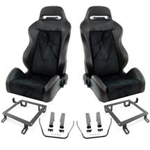 Mustang SVE S1 Racing Seats w/ Non-Assembled Seat Tracks (Pair) (79-04)