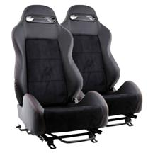 Mustang SVE S1 Racing Seats w/ Seat Tracks (Pair) (79-04)