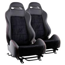 Mustang SVE S1 Racing Seats w/ Assembled Seat Tracks (Pair) (79-04)