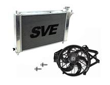 Mustang SVE Aluminum Radiator, Fan & Overflow Kit  (94-95) 5.0L