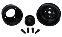 Mustang SVE Aluminum Underdrive Pulley Kit Black (79-93) 5.0L
