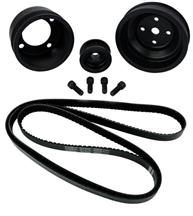 Mustang SVE  Underdrive Pulley & Gatorback Belt Kit  Black (87-93)