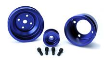 Mustang SVE  Aluminum Underdrive Pulley Kit Blue (79-93)
