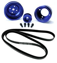 Mustang SVE Underdrive Pulley & Gatorback Belt Kit  Blue (87-93)