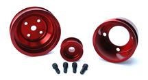 Mustang SVE Aluminum Underdrive Pulley Kit Red (79-93) 5.0L