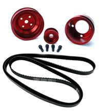 Mustang SVE Underdrive Pulley & Gatorback Belt Kit  Red (87-93)