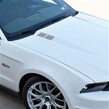 Mustang Hood Hash Marks Silver (10-12)