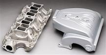 "1986-95 Mustang 5.0L Silver Trick Flow ""R"" Series Intake Manifold with 75mm Throttle Opening"