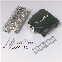 1986-95 Mustang 5.0L Black Trick Flow Track Heat Intake Manifold with 75mm Throttle Opening