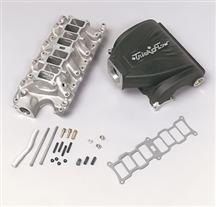 "1986-95 Mustang 5.0L Black Trick Flow ""R"" Series Intake Manifold with 75mm Throttle Opening"
