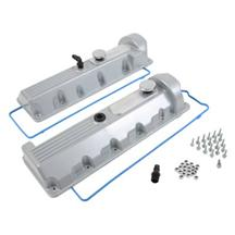 Mustang Trick Flow Aluminum Valve Covers, 13/14 Bolt Windsor Silver 4.6 2V