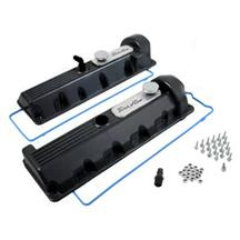 Trick Flow Aluminum Valve Covers, 13/14 Bolt Windsor Black 4.6 2V