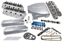 1987-93 Mustang 5.0L Top End Engine Kit with Silver Trick Flow Street Burner Intake, Twisted Wedge Heads And Trick Flow Stage 1 Camshaft