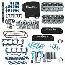 Mustang Trick Flow Top End Engine Kit, w/ Street Burner Intake Black 5.0L