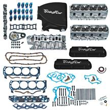 Mustang Trick Flow Top End Engine Kit, w/ Track Heat Intake Black (87-93) 5.0L