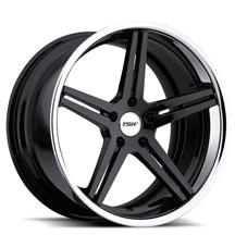 Mustang TSW Mirabeau Wheel - 19x8.5 Gloss Black w/ Chrome Lip (05-15)