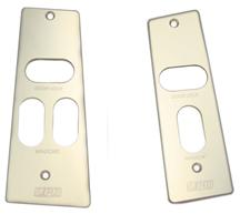 Mustang UPR Billet WIndow Switch Plates w/ Logo Polished (87-93)