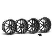 Mustang Velgen VMB6 Wheel & Lug Nut Kit - 20x9/10.5 Satin Black (05-14)