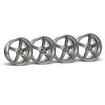 Mustang Rovos Durban Wheel Kit - 18x9 Satin Gunmetal (94-04)